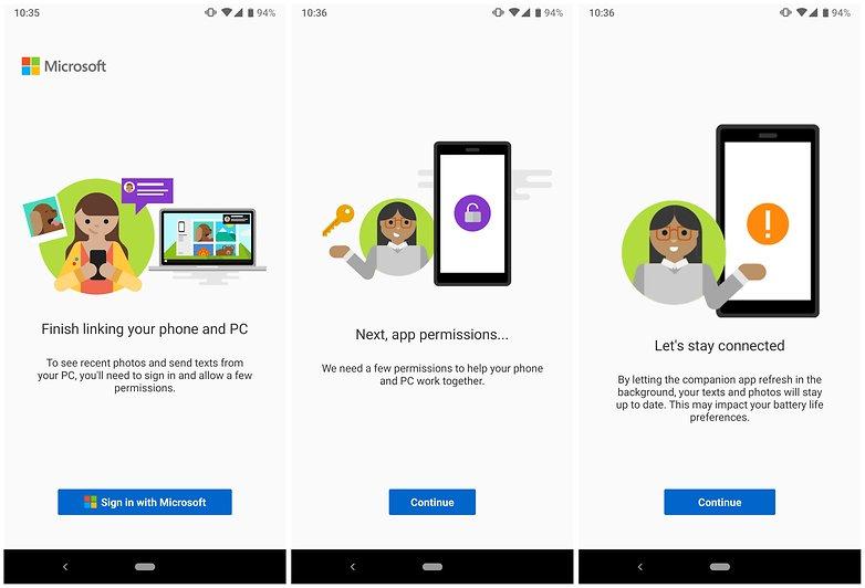 microsoft windows10 android синхронизация