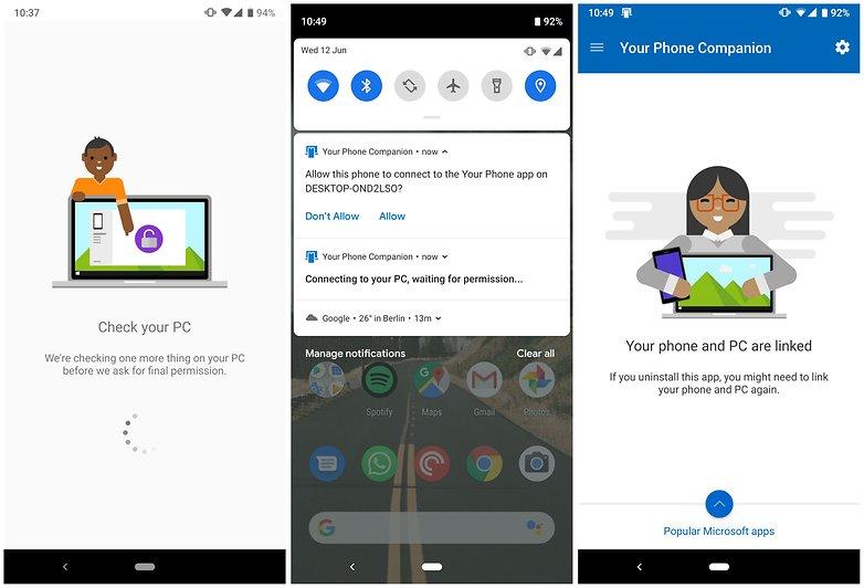 microsoft windows10 android sync3