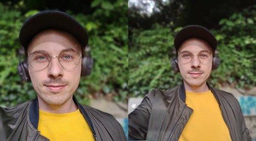 Bei Portrataufnahmen kann das Motorola Moto G 5G Plus dank zweier Frontkameras noch einmal aus dem Motiv herauszoomen