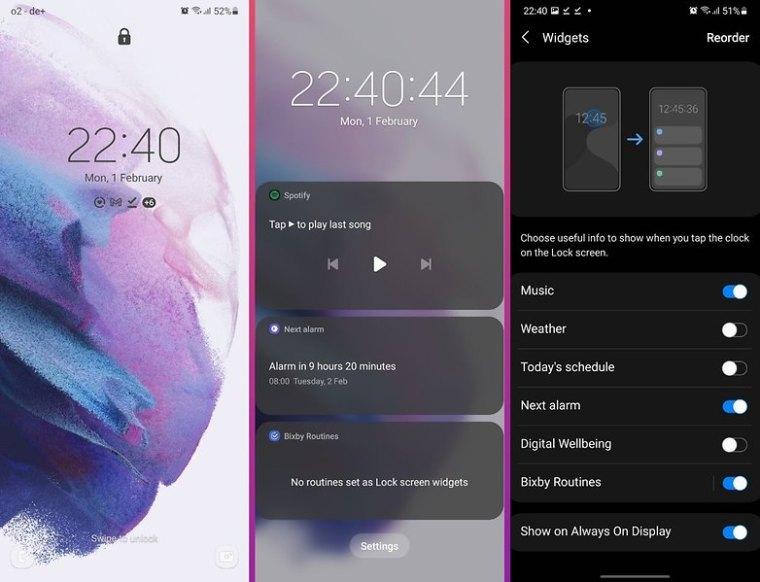 galaxy s21 ultra review oneui 3 widgets