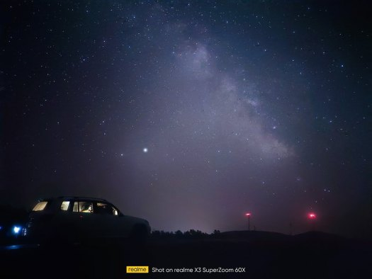 starry photo with car