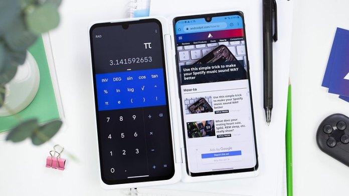 AndroidPIT LG Velvet dual screen