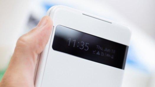 AndroidPIT LG Velvet dual screen case clock