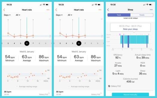 Samsung Health App Screenshot