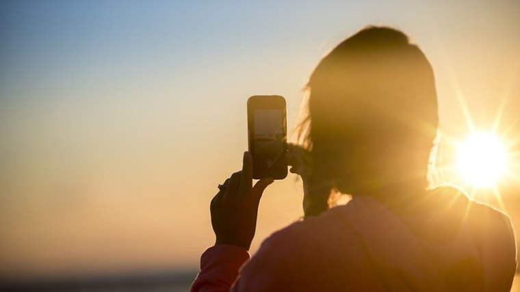 Smartphone Sonne