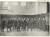 Basketball Game in Thompson Hall Gymnasium, c. 1900