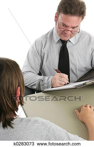 School Counselor Stock Image   k0283073   Fotosearch