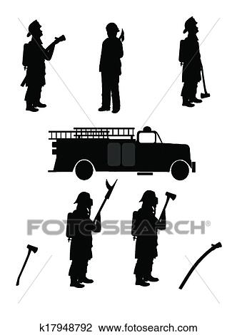 fireman silhouette clip art # 43