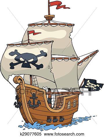 Pirate ship Clipart | k29077605 | Fotosearch