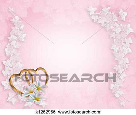 Wedding Invitation Background Pink Stock Ilration