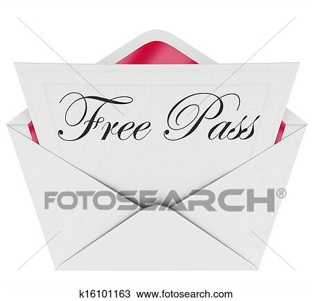 Stock Photo Free Pass Invitation Card Envelope Open Mail Fotosearch Search Images