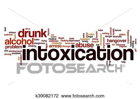 Intoxication word cloud concept Drawing | k39082172 | Fotosearch
