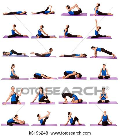 Woman in Yoga Positions Stock Photo | k3195248 | Fotosearch
