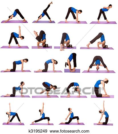Woman in Yoga Positions Stock Photo | k3195249 | Fotosearch