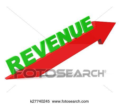 Increasing Revenue Represents Advance Earn And Improvement Stock Illustration   k27740245   Fotosearch