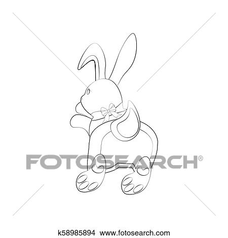 bunny rabbit coloring pages # 82