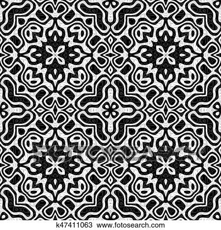 abstract black and white tiled pattern
