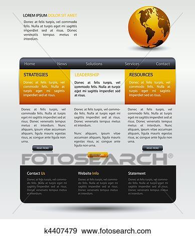 Web Design Modern Template Clip Art K4407479 Fotosearch
