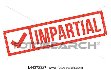 Impartial rubber stamp Clip Art | k44372327 | Fotosearch