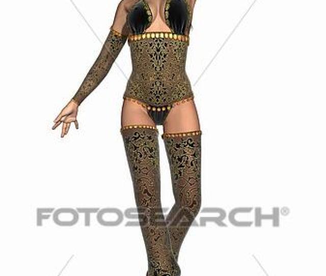 3d Render Of A Sexy Oriental Dancer