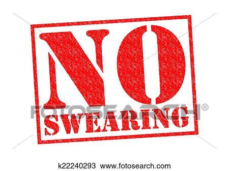 Drawing Of No Swearing K