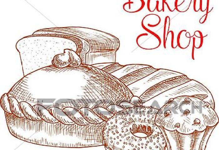 Bakery Shop Bread Vector Sketch Poster Clip Art K44231419 Fotosearch