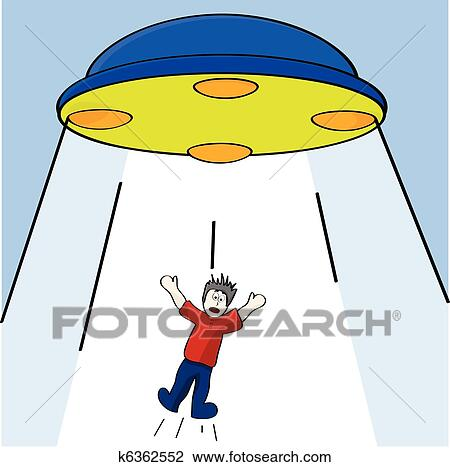 Clipart of Alien abduction k6362552 Search Clip Art