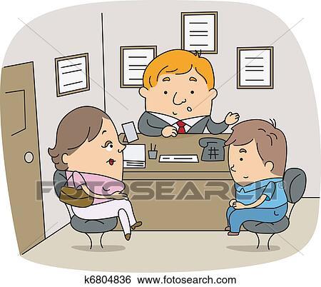 School Counselor Clip Art   k6804836   Fotosearch