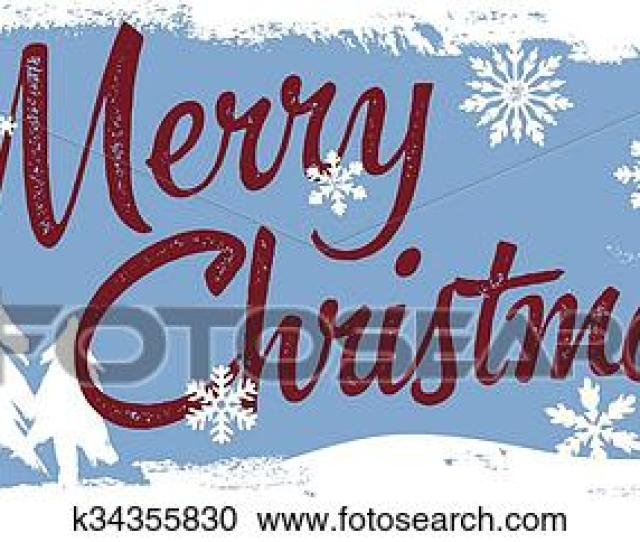 Clipart Merry Christmas Banner Fotosearch Search Clip Art Illustration Murals Drawings
