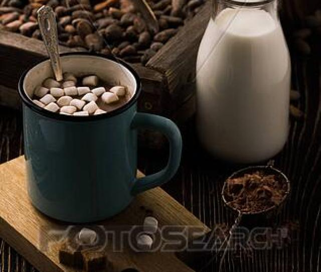 Stock Illustration Homemade Hot Chocolate With Marshmallows On Rough Wood Fotosearch Search Clipart