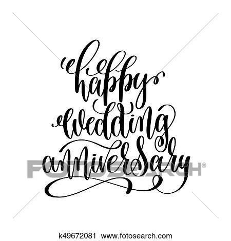 Happy Wedding Anniversary Black And