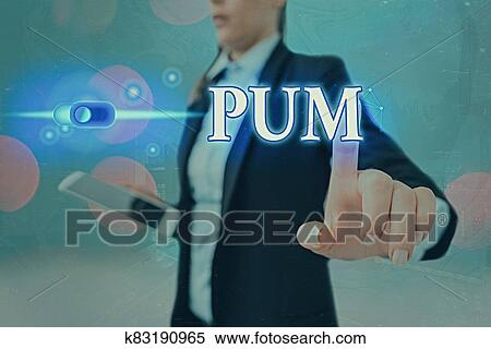 Conceptual hand writing showing Pum. Business photo showcasing unwanted change that can be performed by legitimate applications Graphics padlock ...
