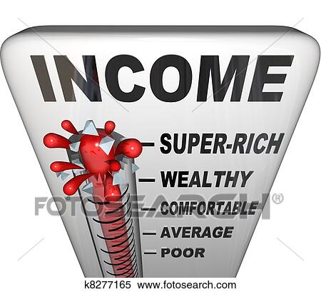 Income Thermometer Promotion Raise Wealthy Earn Money Stock Illustration   k8277165   Fotosearch