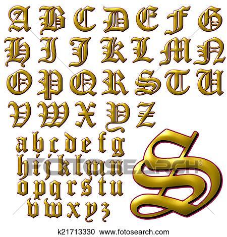 Abc Alphabet Lettering Design Clipart