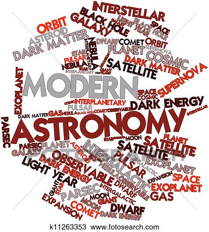 Modern Astronomy Drawing | k11263353 | Fotosearch