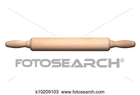 Rolling pin Stock Image | k10209103 | Fotosearch