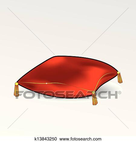 red pillow clipart k13843250 fotosearch
