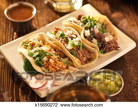 Stock Photo Of Authentic Mexican Barbacoa Carnitas And