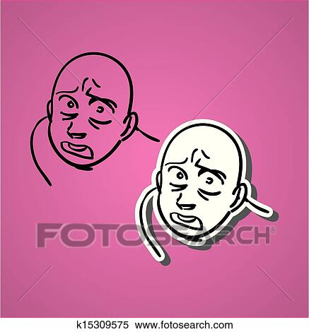 Scared Face Clipart K15309575 Fotosearch