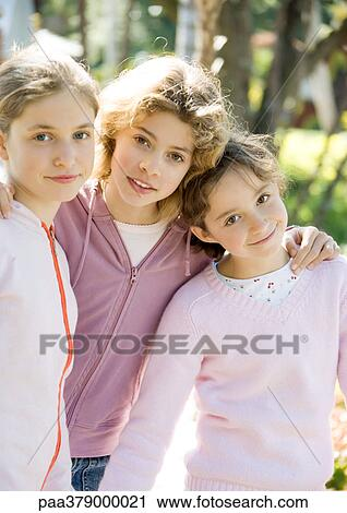 Stock Photography of Group of preteen girls paa379000021 ...