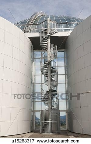 Spiral Staircase On The Exterior Of Hot Water Storage Tanks In   Spiral Staircase Design For Tanks   Wrought Iron   Architecture   Handrail   Steel   Stair Railing