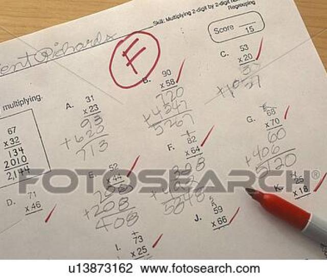 Remedial Math Paper Getting An F Grade