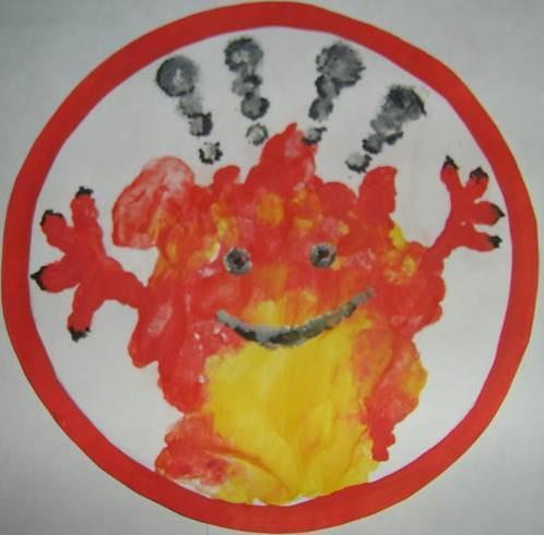 """""""Знаки пожарной безопасности"""" (в быту). - изо, уроки"""