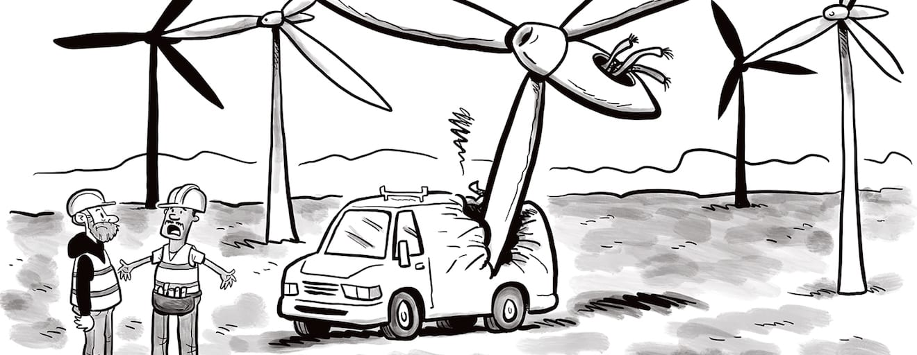 Comic Brake: A Turbine Tragedy