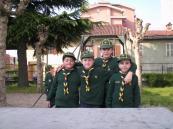 La sestiglia di Nicolò fotografata dallo stesso Nicolò con l'autoscatto - Caccia di Primavera 2010