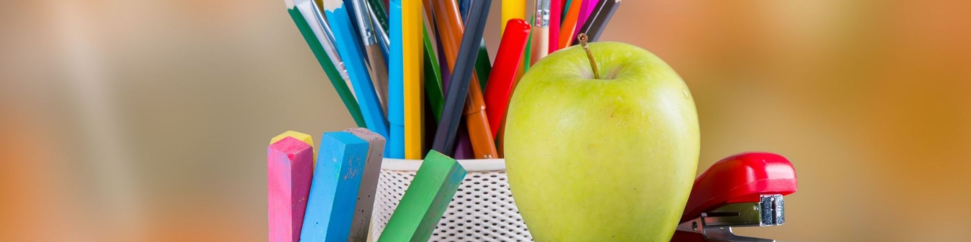 Pencils with apple