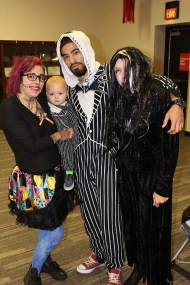 Toni, Andy, and Bebo Ammon as Sally, Baby Jack, and Jack, joined by Lisa Johnson as a Vampiress.