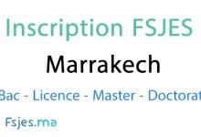 inscription FSJES Marrakech doctorat 2020-2021