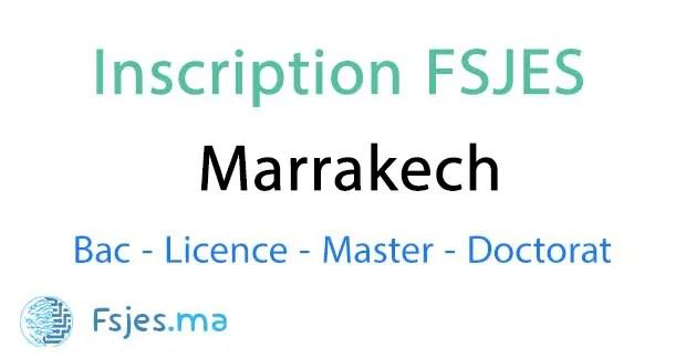 inscription FSJES Marrakech 2020-2021
