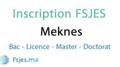 inscription FSJES Meknes doctorat 2020-2021